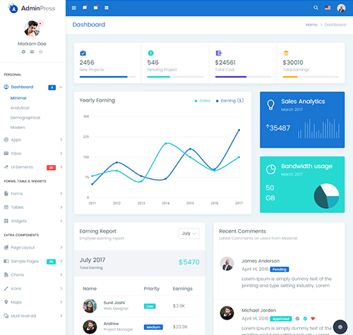 Admin Press Admin Template - Bootstrap 4 Admin Template